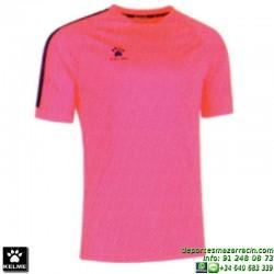 KELME CAMISETA GLOBAL Futbol color ROSA Manga Corta talla equipacion hombre niño 78162-155