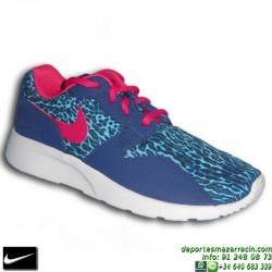 Nike KAISHI PRINT AZUL ROSA Zapatilla ROSHE RUN mujer 749523-400 SNIKER chica personalizar deporte sportwear footwear