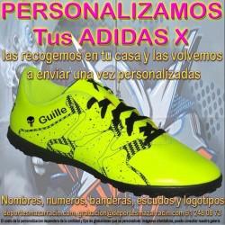 PERSONALIZAR ADIDAS X botas futbol grabar estampar nombre numero bandera escudo