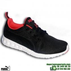 PUMA CARSON RUNNER MUJER Negra-Coral Sneakers estilo ROSHE 188033-05 footwear deporte sportwear moda personalizar