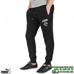 Puma Pantalon Algodon STYLE ATHL SWEAT PANTS FL-CL HOMBRE color Negro 834130-01 gimnasio deporte