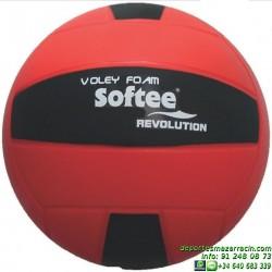 Balon de VOLEYBOL REVOLUTION softee Espuma FOAM colegio escolar economico 0001746 Rojo