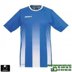 UHLSPORT Camiseta Rayas STRIPE SHIRT Futbol AZUL ROYAL BLANCO 1003256.04 color equipacion talla deporte