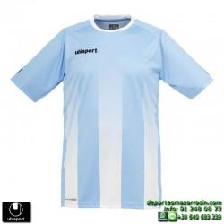 UHLSPORT Camiseta Rayas STRIPE SHIRT Futbol AZUL CELESTE BLANCO 1003256.08 color equipacion talla deporte