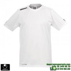 UHLSPORT Camiseta HATTRICK SHIRT Futbol color BLANCO 1003254.07 equipacion talla deporte manga corta