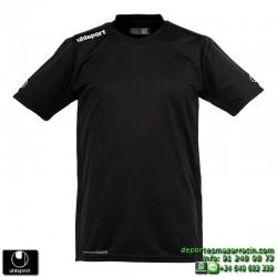 UHLSPORT Camiseta HATTRICK SHIRT Futbol color NEGRO 1003254.02 equipacion talla deporte manga corta