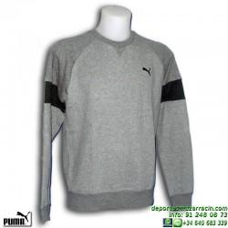 Sudadera PUMA STYLE CREW SWEAT Gris Hombre algodon 834140-03 sportwear