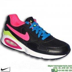 Nike AIR MAX ST NEGRO-ROSA Zapatilla CAMARA DE AIRE 653819-006 mujer chica sneakers personalizar