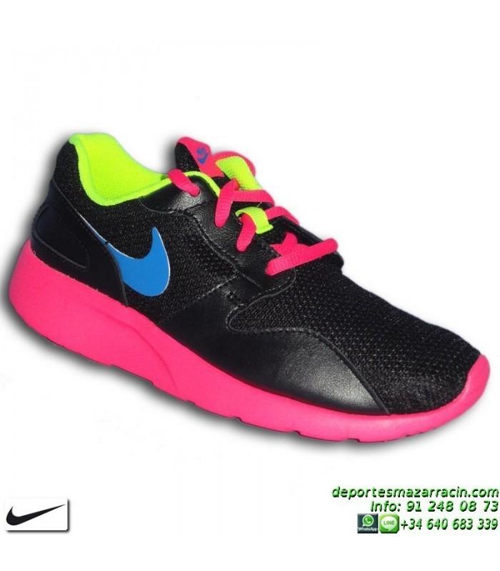Nike KAISHI NEGRO ROSA zapatilla Chica estilo ROSHE RUN