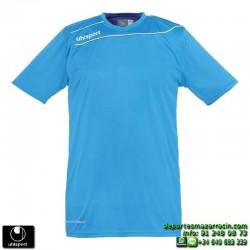 UHLSPORT Camiseta STREAM 3.0 Futbol color AZUL CYAN 1003237.10 equipacion talla deporte manga corta