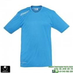 UHLSPORT Camiseta ESSENTIAL Futbol color AZUL CYAN 1002104.07 equipacion talla deporte manga corta