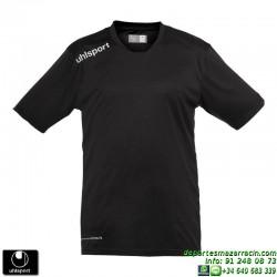 UHLSPORT Camiseta ESSENTIAL Futbol color NEGRO 1002104.01 equipacion talla deporte manga corta