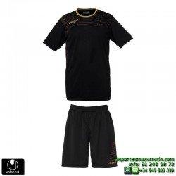 UHLSPORT Conjunto MATCH TEAM KIT Futbol color NEGRO 1003161.02 equipacion camiseta pantalon talla deporte manga corta