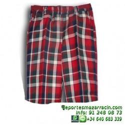 PANTALON CORTO cuadros uniforme Lerena colegio valdemoro