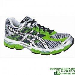 Asics GEL CUMULUS 15 Blanco-Verde Zapatilla Running T3C0N-7001
