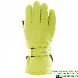 Guante de nieve Nylon softer color verde