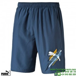 Pantalon Corto PUMA Fun DryGraphic woven Bermuda 836529-12 Azul Marino