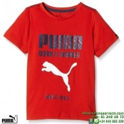 Camiseta Junior Puma FUN IND DRY GRAPHIC TEE 836705-05 Rojo