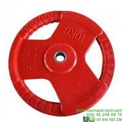 Disco para Pesas CAUCHO con AGARRE 30mm softee gimnasio fitness