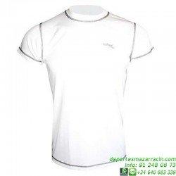 Camiseta TECNICA DRY Blanco Economica hombre Niño deporte manga corta