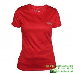 Camiseta TECNICA Mujer Niña DRY Rojo Economica deporte manga corta