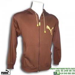 Sudadera Cremallera PUMA Hombre 80.072 Marron capucha sportwear