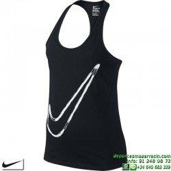 Camiseta Mujer Nike Damen Tanktop Tank-Art Swoosh 779247-010 Negro