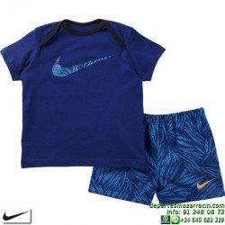 Conjunto Baby Nike camiseta Swim Short baño 728582-455 Azul bebe