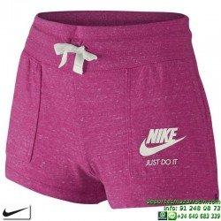 Pantalon Corto Chica NIKE GYM VINTAGE 728421-616 Rosa