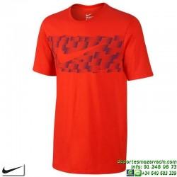 Camiseta NIKE Tee-Ultra Swoosh Rojo hombre manga corta 779778-695 Algodón