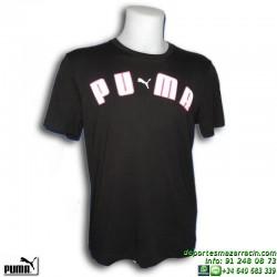 Camiseta Puma ARCHED TEE Negro Hombre 808672-01 Algodón manga corta