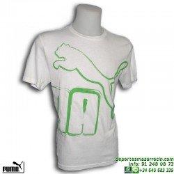 Camiseta Puma BIG Nº1 TEE Blanca Hombre 805907-03 Algodón manga corta