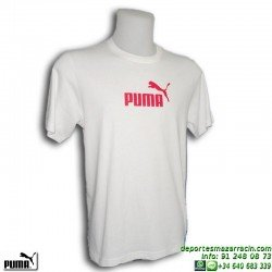 Camiseta Puma LARGE LOGO TEE Junior Blanco 808970-04 Algodón manga corta niño