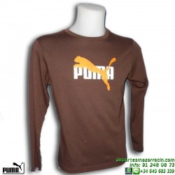 Camiseta Puma TRANSPARENT CAT TEE Junior Manga Larga 810103-04 Algodón