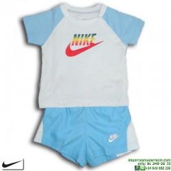 Conjunto Nike Baby Niño Camiseta + Short 333963-402 Azul