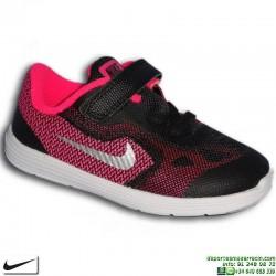 zapatilla-deporte-infantil-nike-revolution-3-tdv-velcro-819418-001-nina-negro-rosa-personalizar