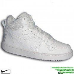 Sneakers Bota Nike COURT BOROUGH MID Chica Blanco AIR FORCE 839981-100 zapatilla deportiva