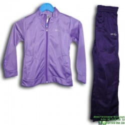 Chandal Junior SOFTEE BASIC Morado poliester acetato OFERTA Niña