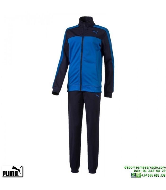 e115c0a7a Chandal Junior PUMA STYLE Tricot Suit Azul royal 839063-13 niño poliester  acetato