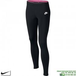 Malla Larga Gimnasio NIKE GIRLS LEGGING Negro-Rosa Running Tights 844965-010 mujer