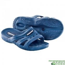 Chancla Piscina Natacion Niño MOSCONY SOFT JR Azul Marino junior sandalia ducha