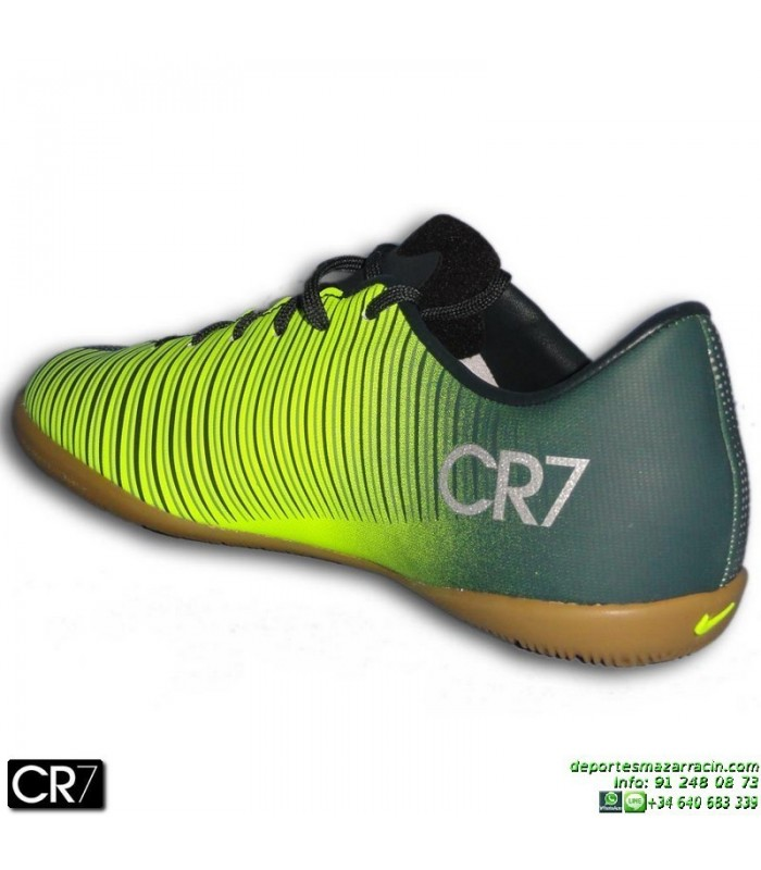 Cristiano Ronaldo Nike Vapor Gris Niño Mercurial Cr7 Futbol Bota Sala CoredBx