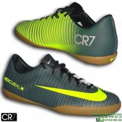 Nike MERCURIAL VAPOR CR7 Niño zapatilla Futbol Sala Cristiano Ronaldo Gris Verdoso 852488-376