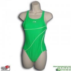 Bañador Natación Mujer John Smith BS0813 Verde lycra piscina cubierta