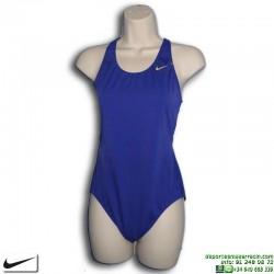 Bañador Natación Mujer Nike BASIC SWIMSUIT Azul Marino E8N156