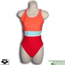 Bañador Natación Mujer ARENA MADIVA 2 Rojo 2892847