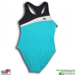 Bañador Natación Niña John Smith BG1105 Azul Celeste