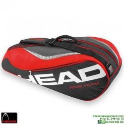 Raquetero HEAD TOUR TEAM 6 Raquetas Tenis Negro-Rojo 283236-BKRD personalizable