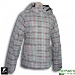 Abrigo Anorak Mujer Joluvi CARLOL Verde-Rosa 232479 parka Nieve