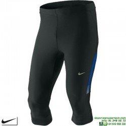 Malla Pirata Nike TECH CAPRI Running Negro - Azul 362480-011 dri fit correr
